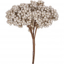 wholesale Artificial Flowers: Berry branch Finn bunch with 4 branches, L27cm, ch